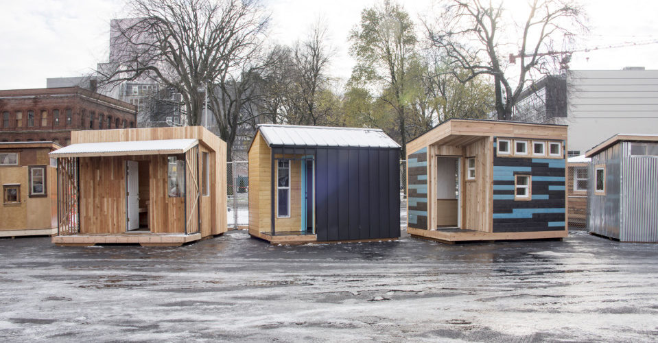 Pods for the homeless in Portland
